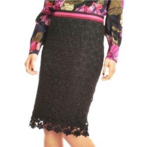 NWT Trina Turk Paltrow Black Skirt size 2